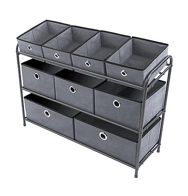 Bintopia Multi Bin Storage Organizer, Charcoal Gray (88036)