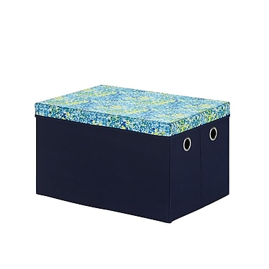 Bintopia Storage Trunk With Removable Lid, Blue & Green (88805)