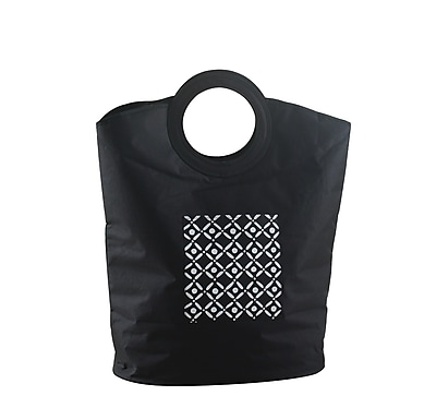 Bintopia Carry Hamper, Black & White (88808)
