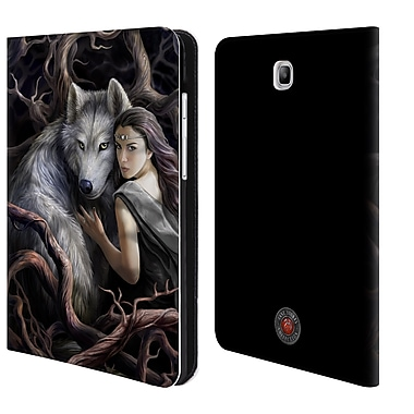 Official Anne Stokes Wolves 2 Soul Bond Leather Book Wallet Case Cover For Samsung Galaxy Tab A 8.0 (D_E2_1ECB3)