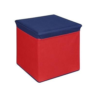 Bintopia Storage Ottoman, Red & Blue Top (88814)