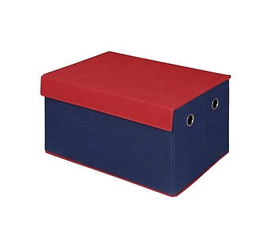 Bintopia Storage Trunk Collapsible, Blue & Red Top (88815)