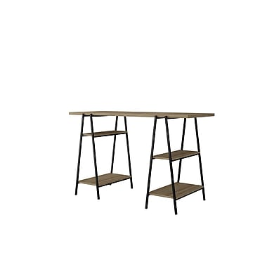 Manhattan Comfort Ellis Home Office Desk, Dark Oak and Black (118AMC152)