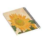 """DENY Designs Sunflower and Bee by Sewzinski Notebook, 5.5"""" x 8.25"""", Dotted, 40 Sheets, Multicolor (74737-nobs01)"""