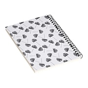 """DENY Designs Woven Fan Palm In Gray by Little Arrow Design Co Notebook, 5.5"""" x 8.25"""", Dotted, 40 Sheets, White (69675-nobs01)"""