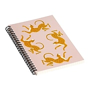"""DENY Designs Leopard Race Pink by Megan Galante Notebook, 5.5"""" x 8.25"""", Dotted, 40 Sheets, Pink (72874-nobs01)"""