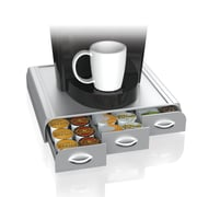 Mind Reader 'Anchor' Coffee Pod Triple Drawer, 36 Capacity, Silver (TRAY6-SIL)