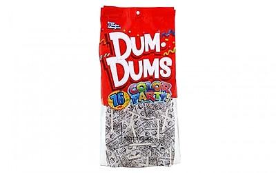 Dum Dums Lollipops, Color Party White, Birthday Cake Flavor, 12.8 oz., 75 Count Bag, 2 Pack, 2 Pack (29400)