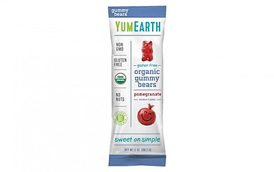 YumEarth Pomegranate Pucker Gummy Bears, 2 oz., 12 Count (1184)