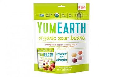 YumEarth Organic Sour Beans, 3.5 oz., 3 Pack (1625)