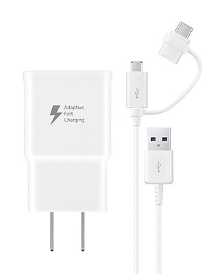 Samsung Genuine MicroUSB / USB-C Fast Charge Wall Charger (EP-DG930DWBNDL)