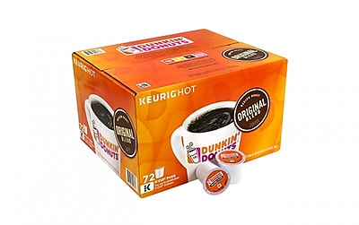 Dunkin Donuts Original Blend K-Cup Coffee, 72 Count (00961) 24255555