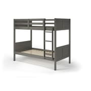 Manhattan Comfort Empire Solid Pine Wood Twin Size Bunk Bed, Gray (B123)