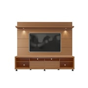 Manhattan Comfort Cabrini TV Stand and Floating Wall TV Panel, Maple Cream and Off White (2-1535482354)