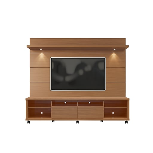 Manhattan Comfort Cabrini Tv Stand And Floating Wall Tv Panel Maple