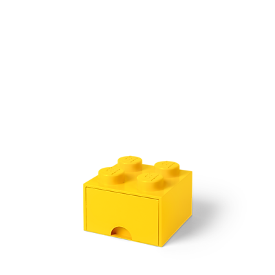 LEGO Storage Brick Drawer 4 Bright Yellow