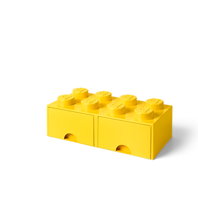 LEGO Storage Brick Drawer 8 Bright Yellow