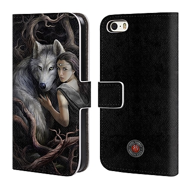 Official Anne Stokes Wolves 2 Soul Bond Leather Book Wallet Case Cover For Apple Iphone 5 / 5S / Se (D_D_1ECB3)