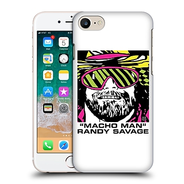 Official WWE Macho Man Randy Savage Logotype Hard Back Case For Apple Iphone 7 / Iphone 8 (9_1F9_1FF72)
