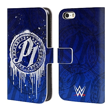 Official WWE Aj Styles P1 Drip Leather Book Wallet Case Cover For Apple Iphone 5 / 5S / Se (D_D_1DA53)