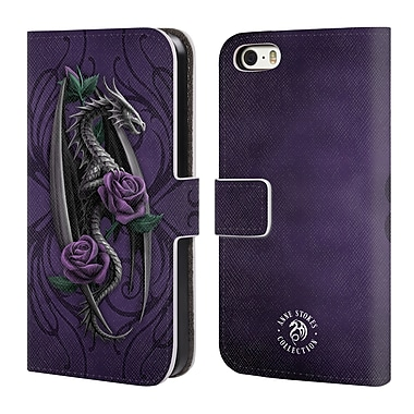 Official Anne Stokes Dragons 3 Beauty 1 Leather Book Wallet Case Cover For Apple Iphone 5 / 5S / Se (D_D_1EA98)