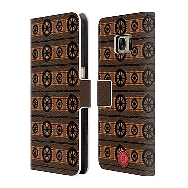 Official Anne Stokes Steampunk Cogs Leather Book Wallet Case Cover For Samsung Galaxy S7 (D_1B9_1EAAD)