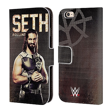 Official WWE Superstars Seth Rollins Leather Book Wallet Case Cover For Apple Iphone 6 / 6S (D_F_1E2F4)