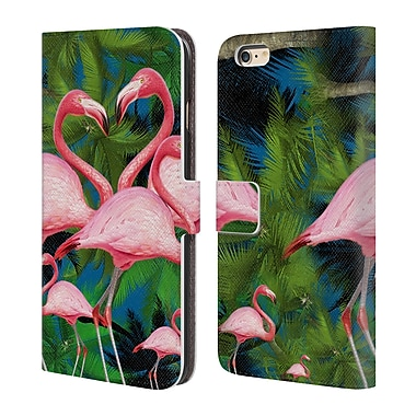 Official Mark Ashkenazi Flamingo Summer Time Leather Book Wallet Case Cover For Apple Iphone 6 Plus / 6S Plus (D_10_1A7A9)