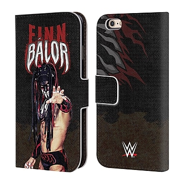 Official WWE Finn Balor Led Image Leather Book Wallet Case Cover For Apple Iphone 6 / 6S (D_F_1E971)