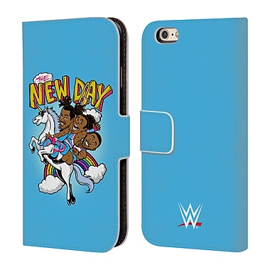 Official WWE The New Day Feel The Power Leather Book Wallet Case Cover For Apple Iphone 6 / 6S (D_F_1E303)