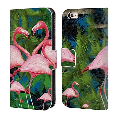 Official Mark Ashkenazi Flamingo Summer Time Leather Book Wallet Case Cover For Apple Iphone 6 / 6S (D_F_1A7A9)