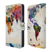 Official Mark Ashkenazi Pop Culture Map Of The World Leather Book Wallet Case Cover For Samsung Galaxy Note 4 (D_A5_1A7C9)