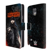 Official WWE Bray Wyatt Led Image Leather Book Wallet Case Cover For Samsung Galaxy Note 4 (D_A5_1EA45)