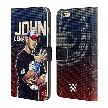 Official WWE Superstars John Cena Leather Book Wallet Case Cover For Apple Iphone 6 Plus / 6S Plus (D_10_1E2F2)