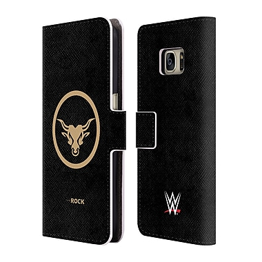 Official WWE The Rock Golden Brahma Bull Leather Book Wallet Case Cover For Samsung Galaxy S7 (D_1B9_1DA81)
