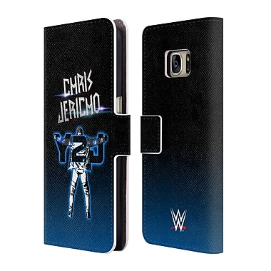 Official WWE Chris Jericho Y2J Leather Book Wallet Case Cover For Samsung Galaxy S7 (D_1B9_1EA48)