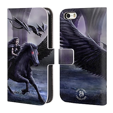 Official Anne Stokes Mythical Creatures Real Of Darkness Leather Book Wallet Case Cover For Apple Iphone 5 / 5S / Se (D_D_19023)