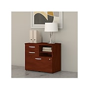 "Bush Business Furniture Studio C 25.98"" Office Storage Cabinet with 2 Shelves and Drawers, Hansen Cherry (SCF130HCSU)"