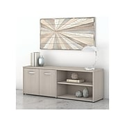 """Bush Business Furniture Studio C 21.2"""" Low Storage Cabinet with Doors and Shelves, Sand Oak (SCS160SO)"""