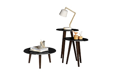 Manhattan Comfort Carmine End Tables Set, Black (206AMC95)
