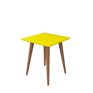 Manhattan Comfort Utopia Square End Table, Yellow (89353)
