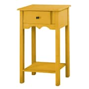 Manhattan Comfort Jay End Table, Yellow, (CS50002)