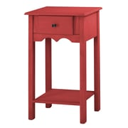 Manhattan Comfort Jay End Table, Red (CS50003)