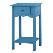"Manhattan Comfort Jay 35.43"" End Table, Blue (CS50001)"