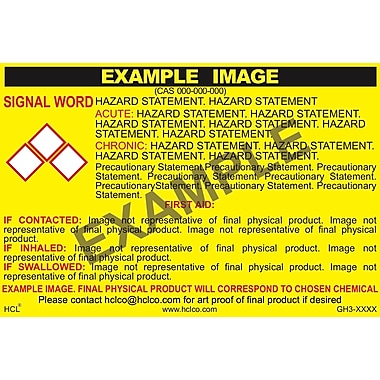 HCL Ammonium Bifluoride GHS Chemical Label, 3