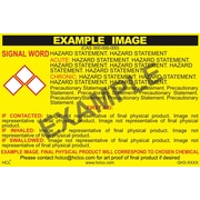 "HCL Titebond II Premium Wood Glue GHS Chemical Label, 3"" x 5"", Adhesive Vinyl, Yellow/Black, 25 Pack (GH308270035)"
