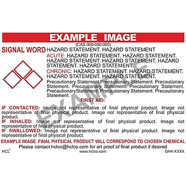 HCL Heptane GHS Chemical Label, 4