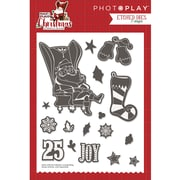 Photo Play Paper Mad 4 Plaid Christmas Icons Etched Dies (MPC2880)