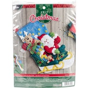 "Bucilla 18"" Long Santa's Helper Stocking Felt Applique Kit (86706)"