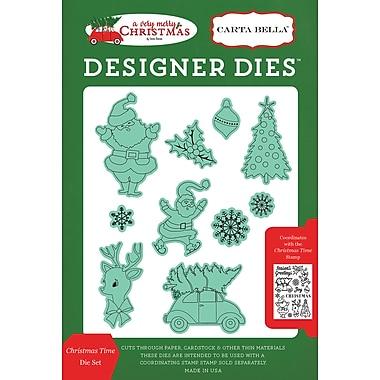 Echo Park Paper A Very Merry Christmas, Christmas Time Carta Bella Dies (VMC72044)
